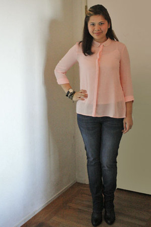 H&M blouse - Rock & Republic jeans