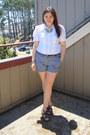 Old-navy-shorts-white-h-m-blouse