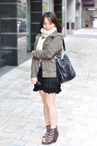 Kenneth Cole dress - boyfriends jacket - Mimco accessories - Bronx Shani shoes
