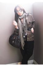 boyfriends jacket - Dotti pants - Fendi accessories