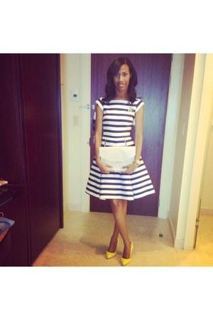 kate spade dress - yellow Christian Louboutin shoes - ivory Givenchy purse