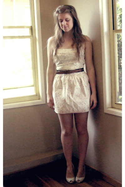 Hand Made dress - my brothers belt - punet shoes