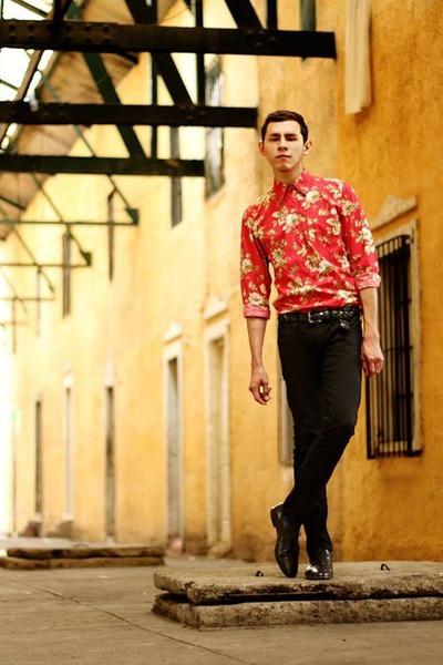 black Saul E Mendez shoes - black skinny jeans Topman jeans
