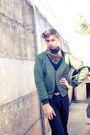 Black-zara-pants-black-american-apparel-t-shirt-brown-belt-green-my-dads-j