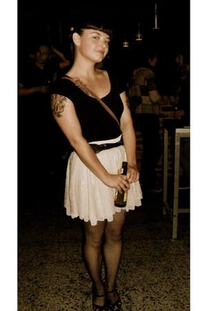 Melissa heels - Urban Outfitters t-shirt - Zara skirt