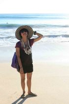 Dorothy Perkins shirt - Surfer Girl dress - from Bali hat - I made it necklace -