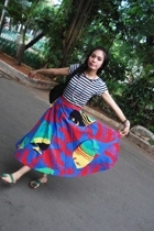 shirt - skirt - next purse - from yogyakarta shoes - from maddinah necklace