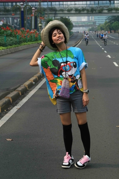 mcky top - Endorse shorts - sox gallery socks - Vans shoes - my aunty made it pu