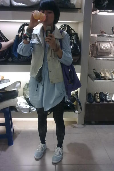 my mother clothes top - cottontale origins vest - H&amp;M scarf - H&amp;M shoes - HK sto