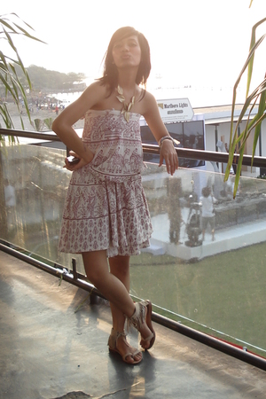 from Thailand dress - Aldo necklace - bt-club shoes - Fossil accessories - Linea