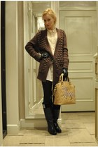 Massimo Dutti cardigan - Calzedonia tights - Lapalette bag - Zara gloves