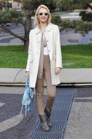 Massimo Dutti coat - River Island boots - Zara scarf - balenciaga bag