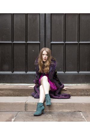 Betsey Johnson coat - Primark boots