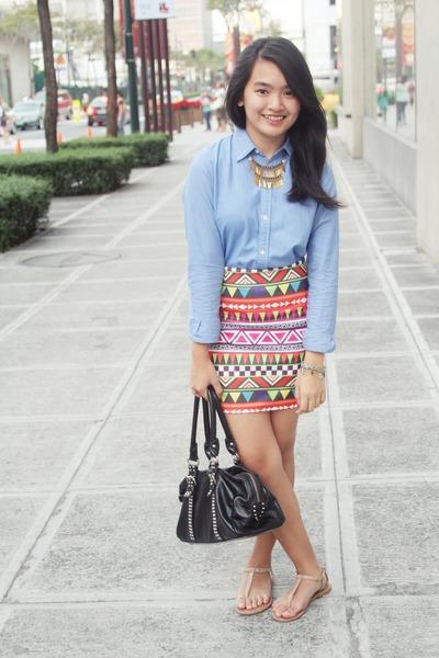 Tigerlily skirt - Prada bag - Forever 21 sandals - Ralph Lauren top