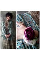 magenta bridesmaid Bracelet accessories - dark khaki vintage dress dress