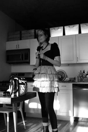 black Betsey Johnson dress - silver Betsey Johnson skirt - black American Appare
