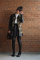 wedge booties Forever 21 boots - army camo DIY jacket - leather Topshop leggings