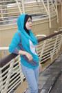 Teal-comfortable-eastwear-hoodie