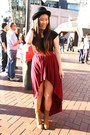 Aldo-boots-bowler-urban-outfitters-hat-saba-shirt-supre-skirt