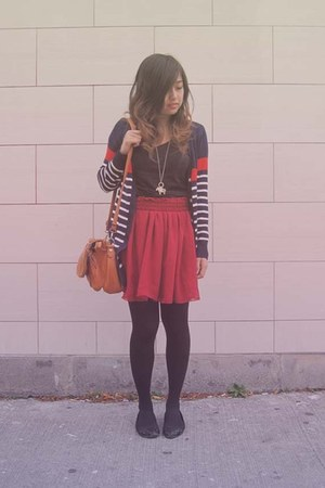 brick red American Apparel skirt