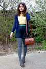 Heather-gray-plaid-textured-tights-brick-red-vintage-marc-chantal-purse-blac