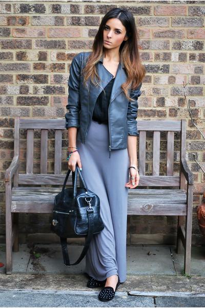 jacket - dress - bag - silk racer back vest