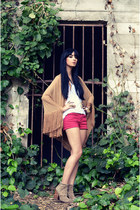 Jeffrey Campbell boots - Forever 21 shorts - H&M t-shirt