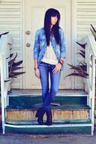 Forever 21 top - rag & bone boots - rag & bone jeans - H&M shirt
