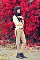 rag & bone jeans - Chloe boots - rag & bone blouse