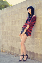 Gap sweater - Current Elliott shorts - Zara heels