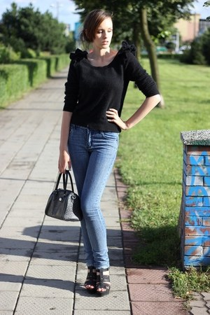 Cheap Monday jeans - CCC shoes - H&M sweater - vintage bag - Terranova bodysuit