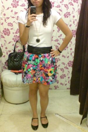 Topshop shirt - belt - Poisonberry skirt - Topshop shoes - Movado Watch accessor