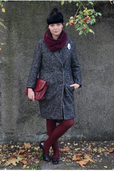 H&M coat - vintage bag - vintage loafers