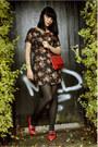 Flowers-lipsy-london-dress-ruffled-asos-coat-vintage-heels
