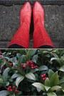 Dark-green-f-f-coat-red-rylko-shoes-black-vero-moda-dress-red-vintage-bag