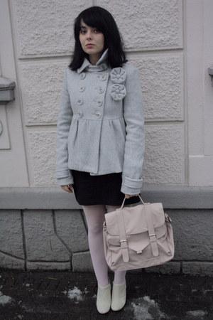 Zara coat - New Yorker bag - H&M boots - Topshop jacket