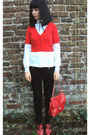 Red-new-look-coat-red-office-london-shoes