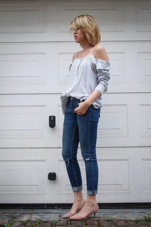 Zara jeans - Forever 21 top - Kurt Geiger heels