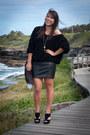 Black-fox-tail-ebay-accessories-black-leather-vintage-skirt-black-american-a