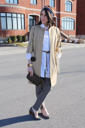 Zara jacket - Louis Vuitton bag - Zara wedges - Zara pants