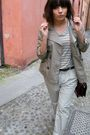 Beige-h-m-coat-gold-zary-shoes-beige-h-m-pants-brown-vintage-accessories