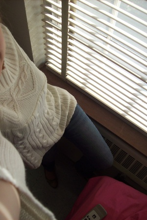 JC Penny sweater - Nine West accessories - American Eagle jeans
