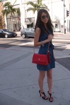 Chanel purse - Jill Stuart dress - Guess shoes