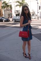 Chanel purse - Jill Stuart dress - Guess shoes