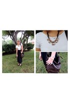 white cotton crop top brandy melville top - gold H&M bracelet