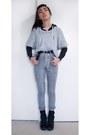 Jeans-distressed-diy-orig-from-h-m-sweater-plain-hoodie