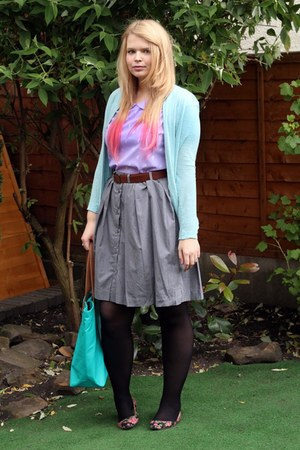aquamarine Matalan bag - heather gray Vero Moda skirt