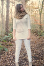 White-jeans-off-white-sweater-camel-scarf-tan-wedges