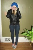 hat - jacket - jeans - shoes