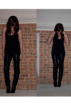 black Forever 21 t-shirt - black Forever 21 pants - black Forever 21 shoes